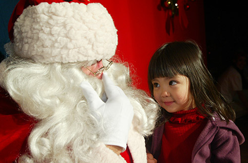 Image result for Santa Claus in Gilroy Gardens