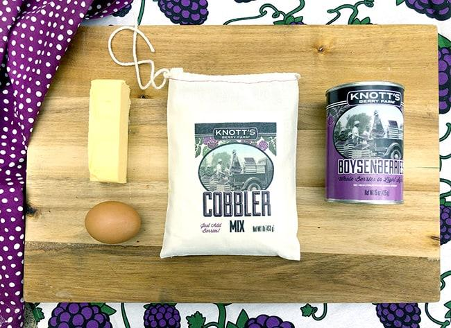 Knott's Boysenberry Cobbler mix and filling