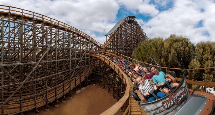 Ghostrider Wooden Roller Coaster at Knott's Berry Farm