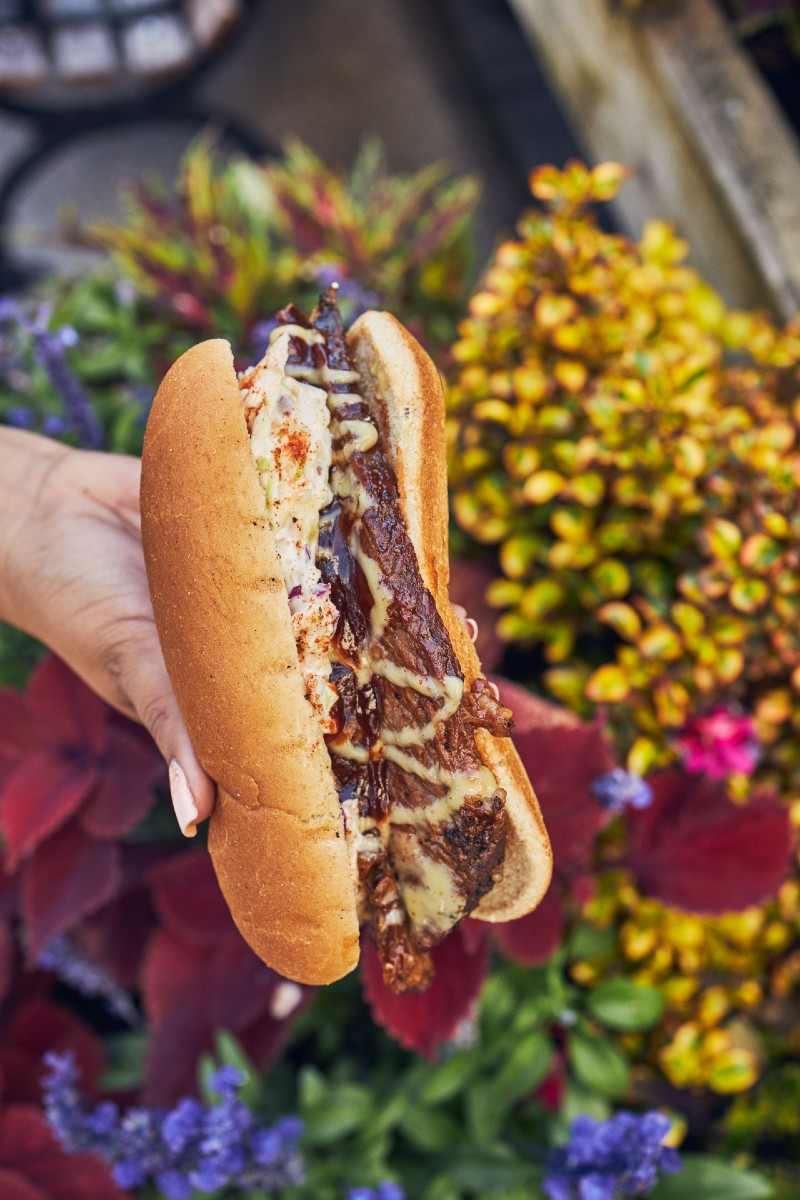 Smoked Brisket Sandwich available at Knott's Berry Farm's food event, Taste of Knott's