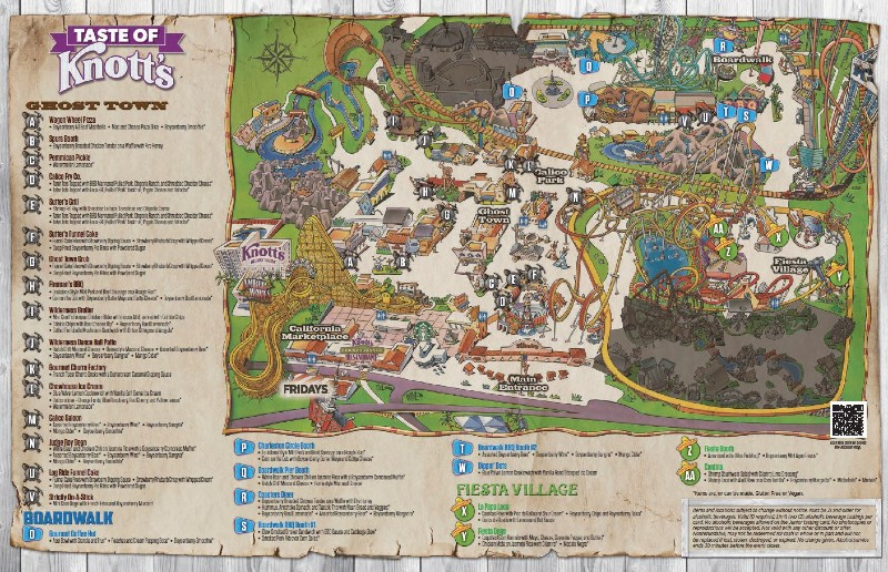 Theme Park Map for Taste of Knott's Food Event