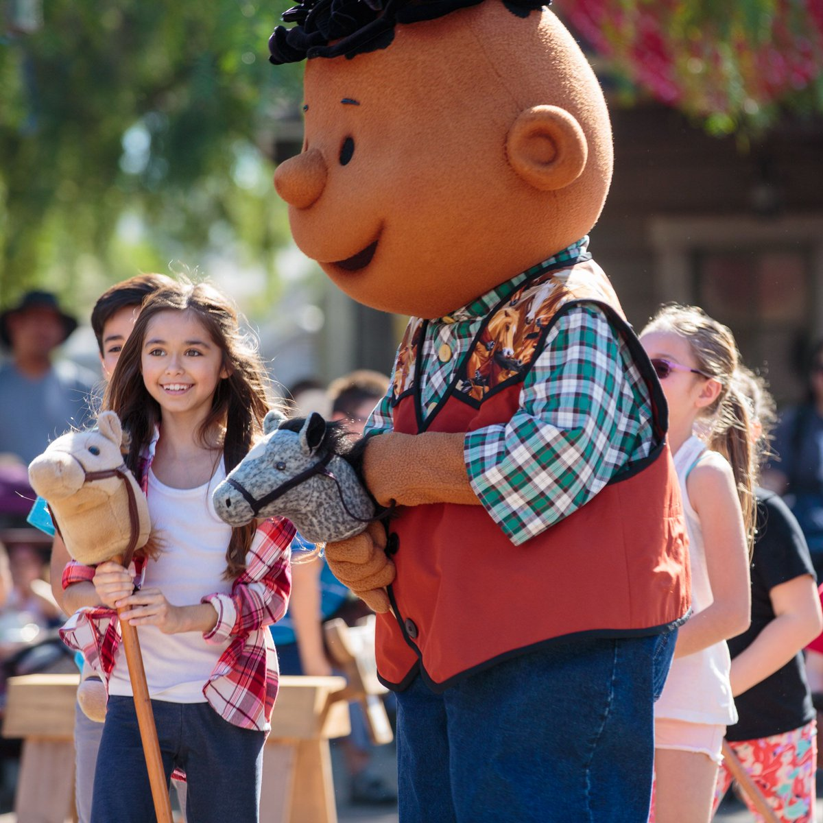Peanuts Character Franklin Armstrong at Knott's Berry Farm Amusement Park