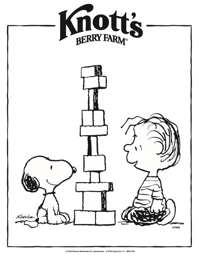 - Knott's Peanuts Coloring Pages - Knott's Berry Farm