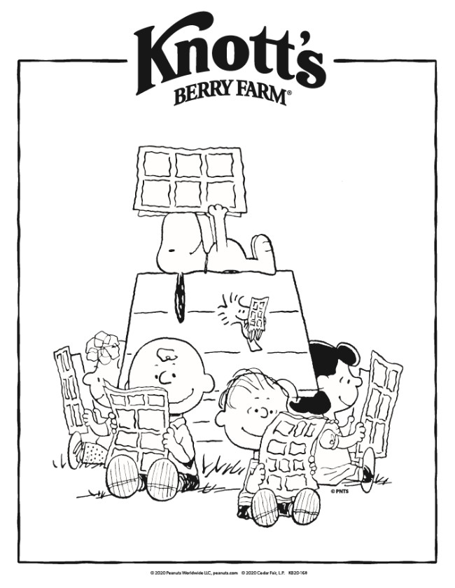 Free, printable coloring pages from Knott's Berry Farm