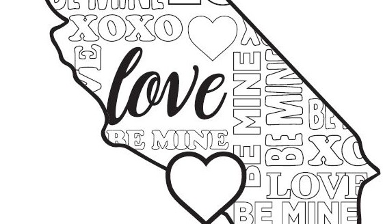 Knott's Valentine's Day Coloring Pages