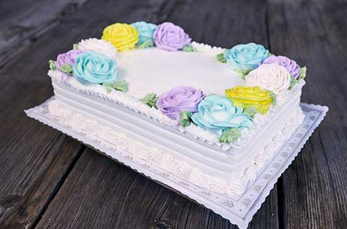 Every Day Cake (Floral) - Quarter Sheet