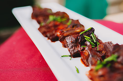 Riblets in Boysenberry BBQ Sauce