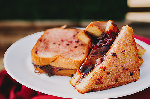 Boysenberry Butter Grilled Cheese Sandwich