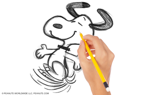 Learn To Draw Snoopy at Peanuts Sketch School Knott's Berry Farm