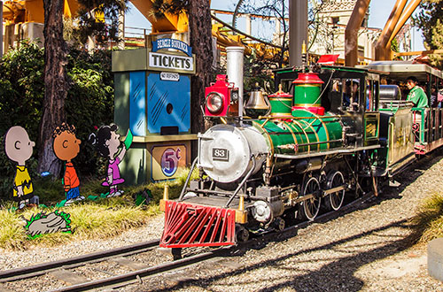 Knott's Peanuts Celebration on Grand Sierra Railroad At Knott's Berry Farm