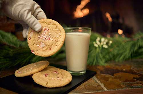 Candy Cane Cookies with Milk
