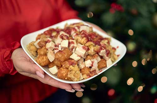 Fully Loaded Turkey Dinner Tater Tots