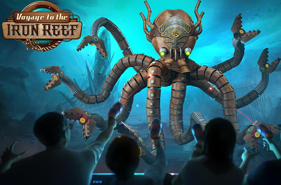 Voyage to the Iron Reef - Kraken Queen - Knott's Berry Farm