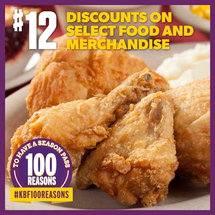 Discounts on select food and merchandise.