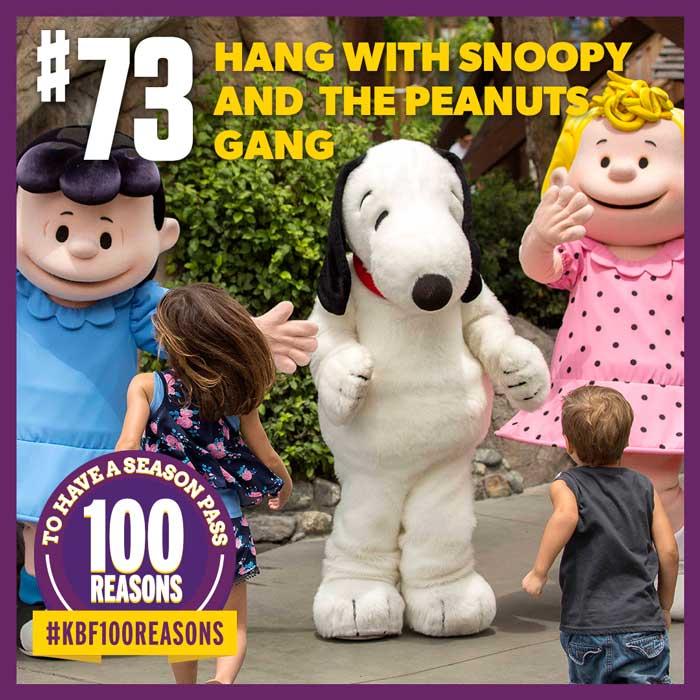 Hang with Snoopy and the PEANUTS Gang.