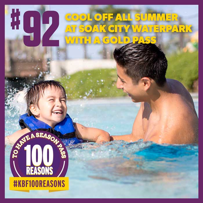 Cool off all summer at Soak City Waterpark with a Gold Pass.