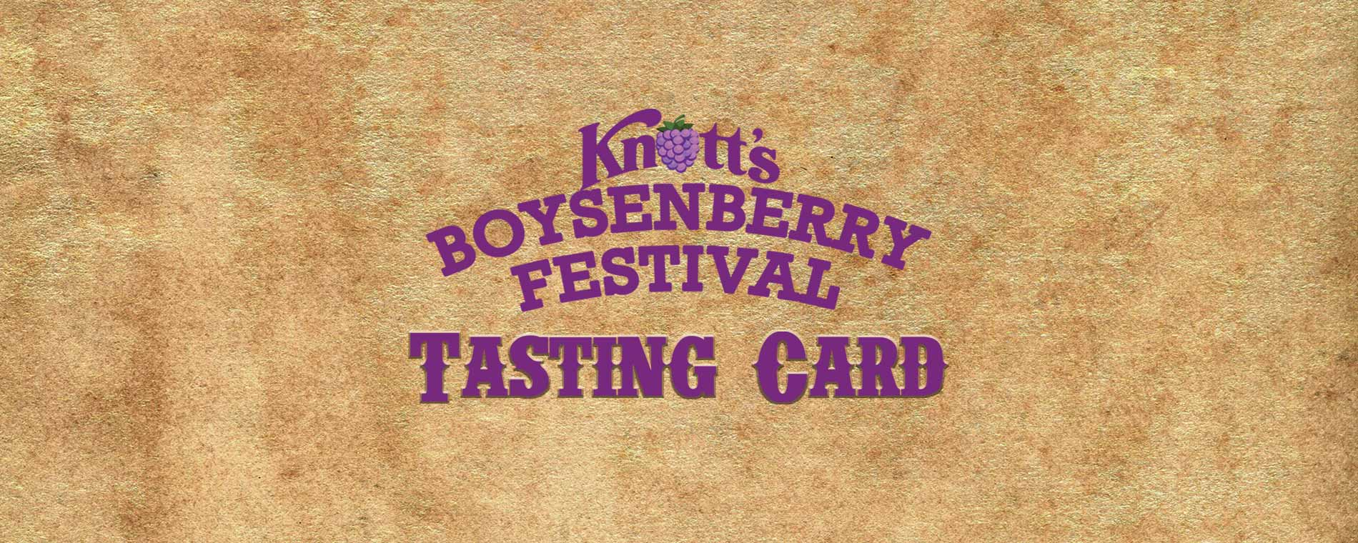 Food Tasting Cards at the Boysenberry Festival