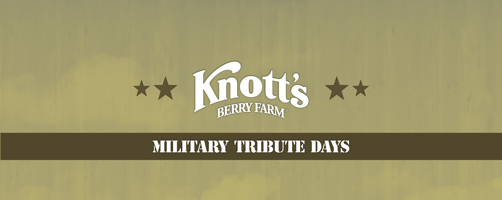 Military Tribute Days & Military Discount Tickets at Knott's Berry Farm