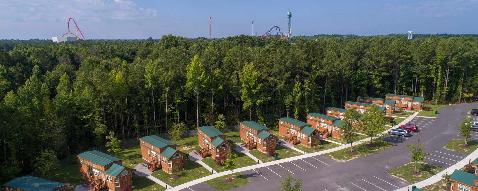 Deluxe Cabin Rentals at Kings Dominion KOA Camp Site