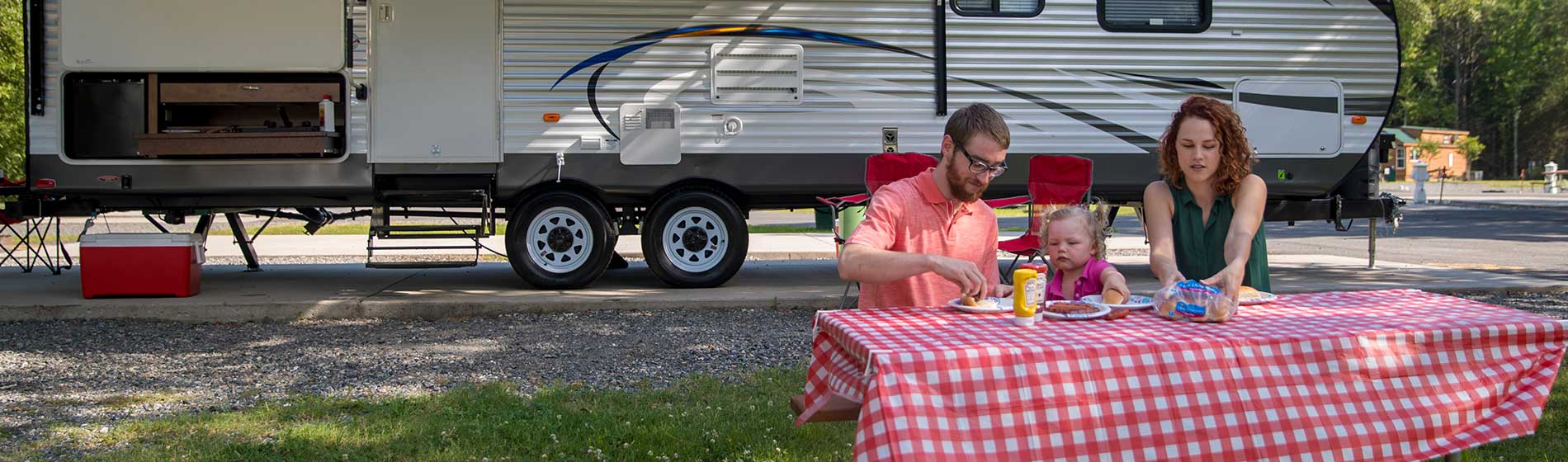 RV Sites at Kings Dominion's KOA Camp Site