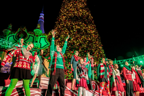 kings dominion will be open for the holiday season were transforming the park into a winter wonderland featuring millions of lights ice skating - Kings Dominion Christmas