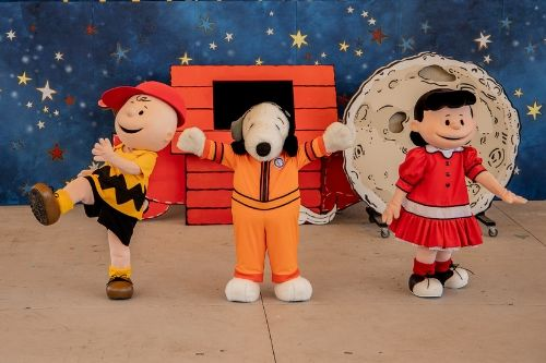 PEANUTS Characters performing at KD during Autism Awareness Week