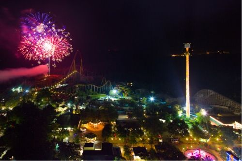 Best Places to Watch Fireworks at Kings Dominion - Kings