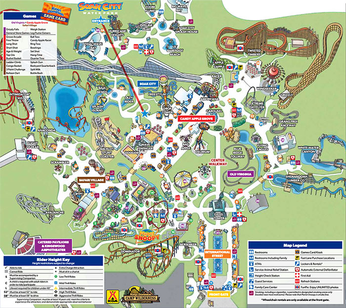 Kings Dominion amusement park map