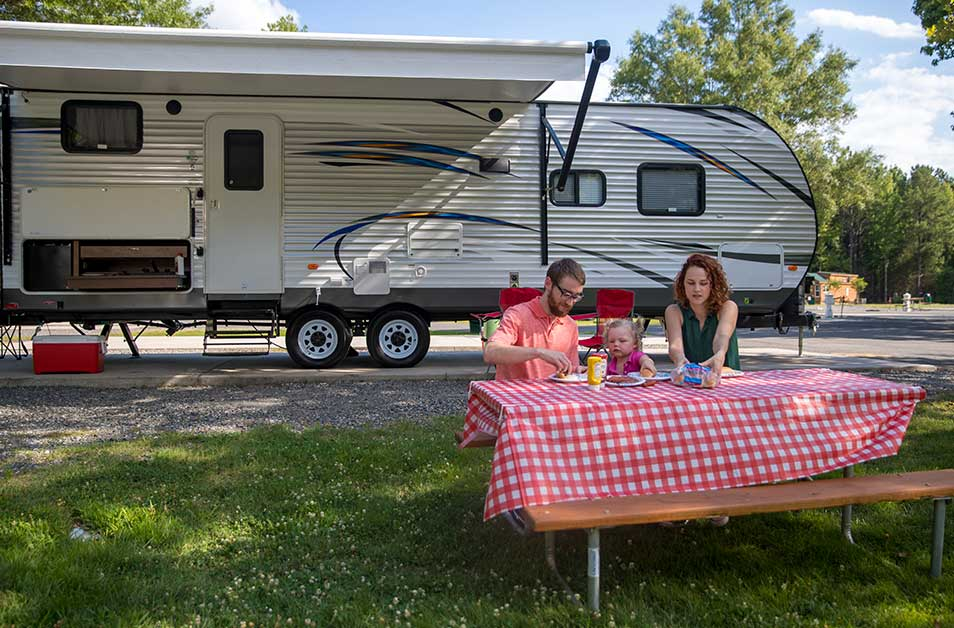 RV Campsites at Kings Dominion KOA Camp Site