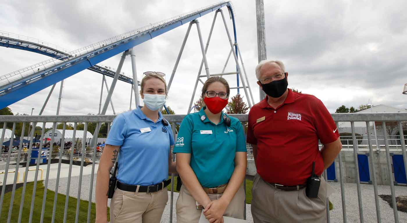 Kings Island Amusement Park Rides employee receives the Over the Top Award