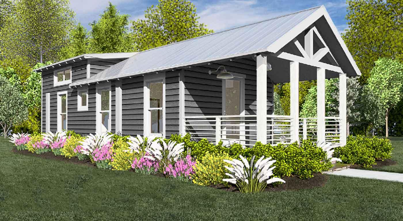 """So werden die Häuser von """"Camp Cedar"""" aussehen. © Kings Island"""
