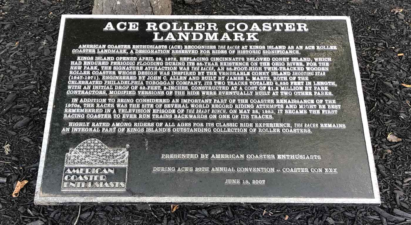 Kings Island Roller Coasters Honored with ACE Roller Coaster Landmark
