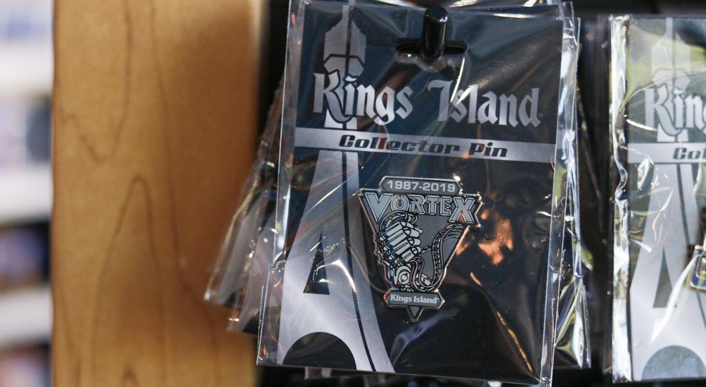 Kings Island Vortex Commemorative Pin