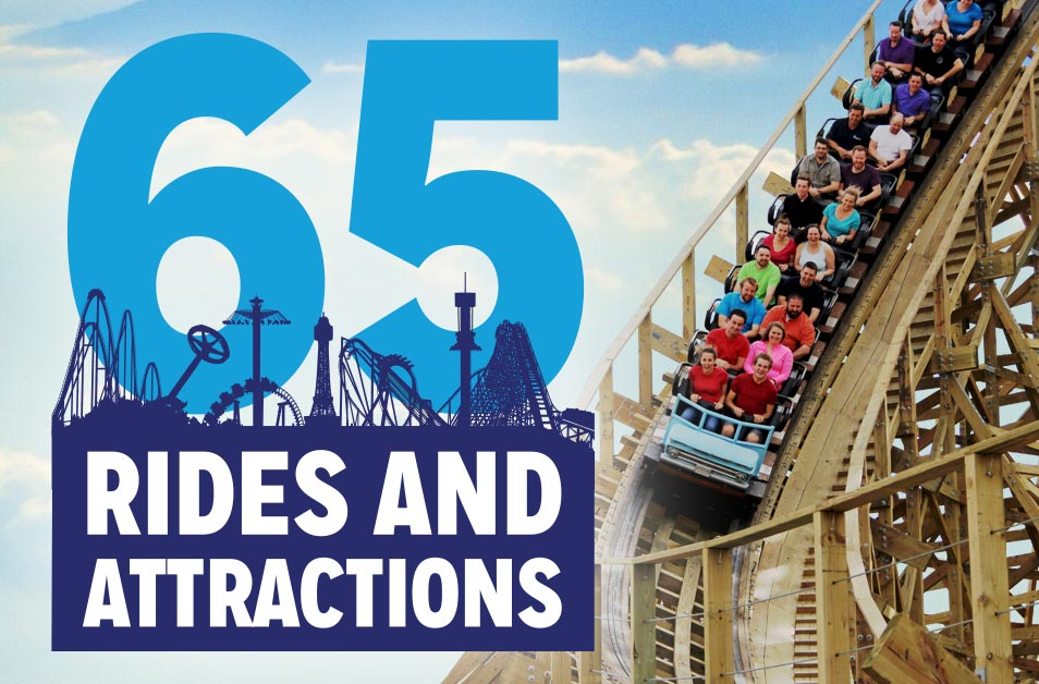 65 Rides and Attractions