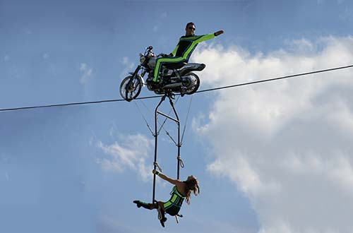 Motorcycle High Wire