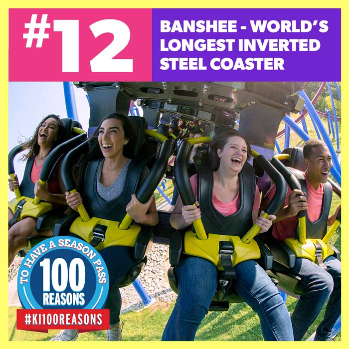 Banshee - World's longest inverted steel coaster