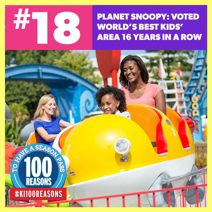 Planet Snoopy: Voted World's Best Kids' Area 16 years in a row