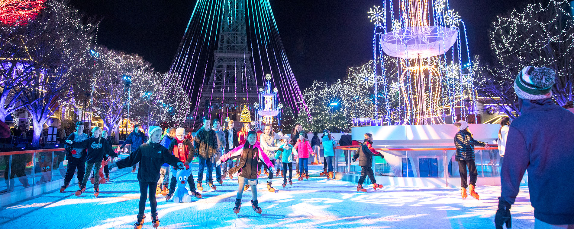 Snow Flake Ice Skating at Kings Island's Holiday Event