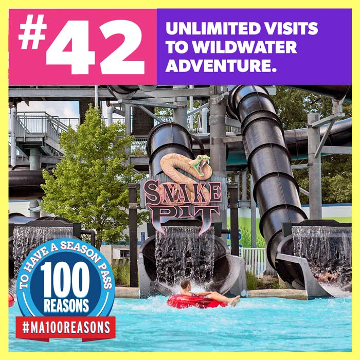Unlimited visits to WildWater Adventure.