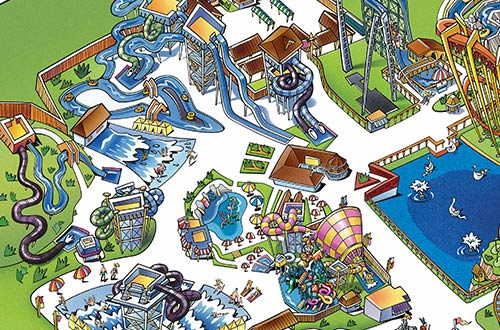 Michigan's Adventure Park Map