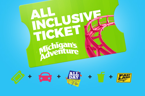 Michigan's Adventure All Inclusive Ticket