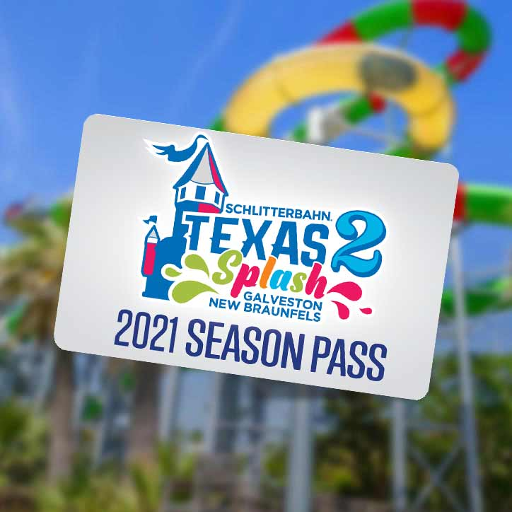 Schlitterbahn Season Pass Card Waterslide in Background