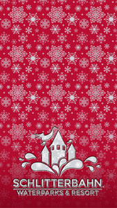 Red Snowflakes Holiday Wallpaper Mobile