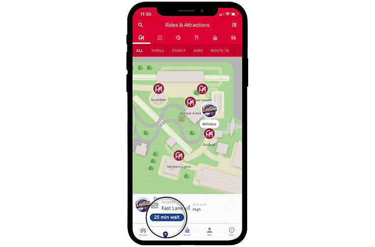 VF Mobile App Ride Details