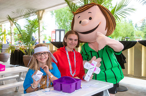 Peppermint Patty's Craft Corner at Valleyfair's Peanuts Celebration