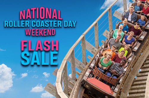 National Roller Coaster Day Weekend Flash Sale