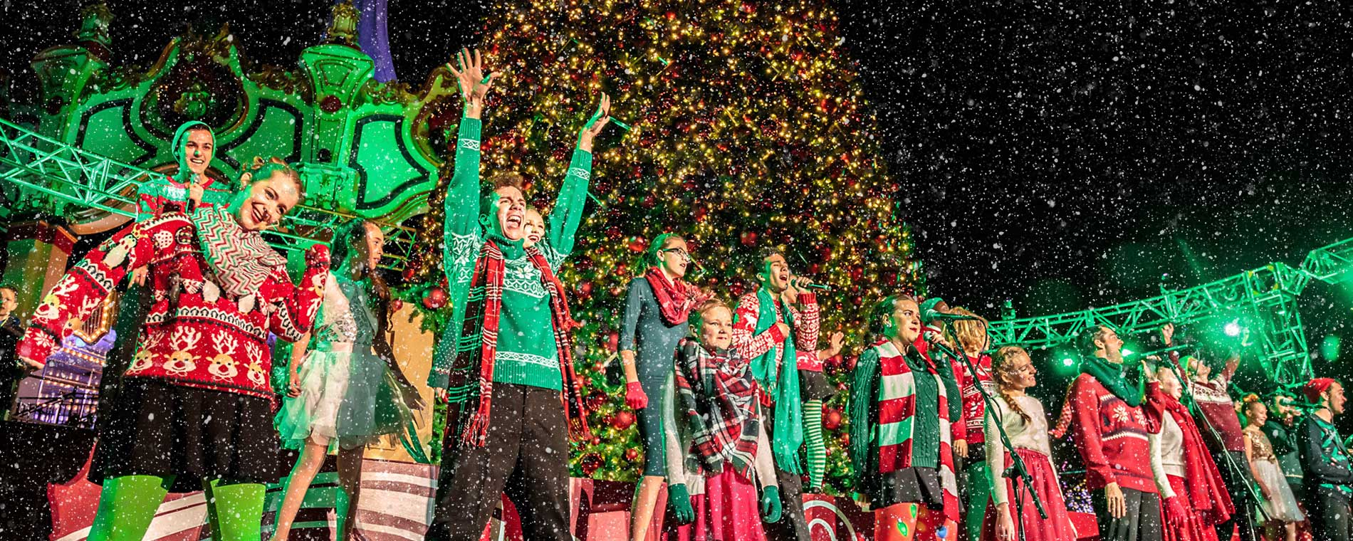 Live Performance at California's Great America's WinterFest Holiday Event