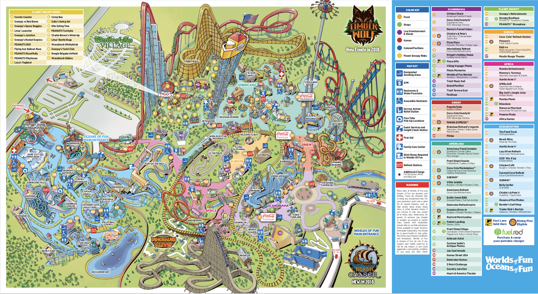 Worlds Of Fun Map Adding a World of Beauty   Worlds of Fun
