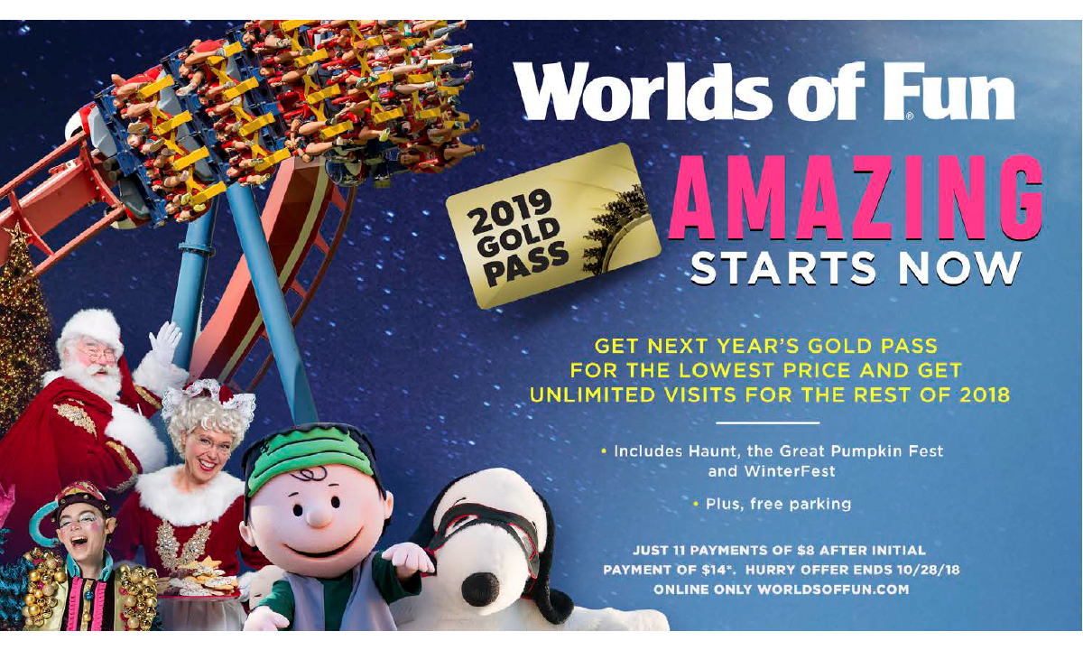 2019 Season Pass Worlds of Fun