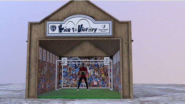 Concept Illustration of Sporting KC themed game at Worlds of Fun benefiting The Victory Project